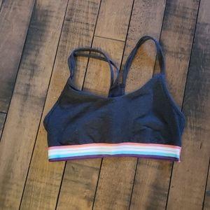 Old Navy grey sports bra. Size medium.
